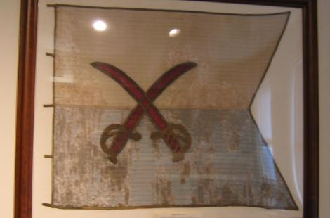 Personal battle flag of brig gen custer (86.2.40)
